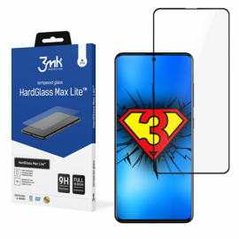 "3D Juodas apsauginis stiklas Samsung Galaxy A515 A51 ""3MK Hard Glass Max Lite"""