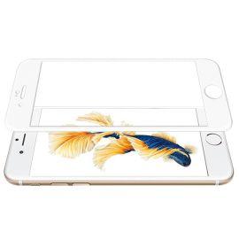 5D baltas apsauginis ekrano stikliukas Apple iPhone 6 / 6S