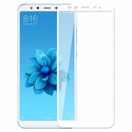 5D baltas apsauginis ekrano stikliukas Xiaomi Mi A2 / 6X
