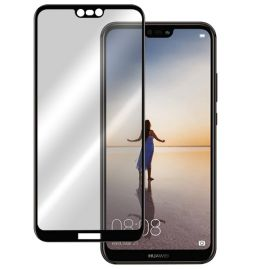 5D juodas apsauginis ekrano stikliukas Huawei P20 Lite