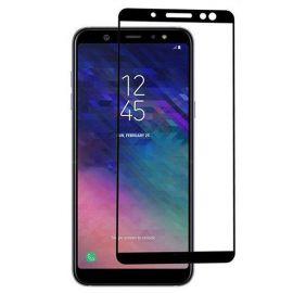5D juodas apsauginis ekrano stikliukas Samsung Galaxy A605 A6 Plus 2018