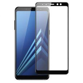 5D juodas apsauginis ekrano stikliukas Samsung Galaxy A730 A8 Plus 2018