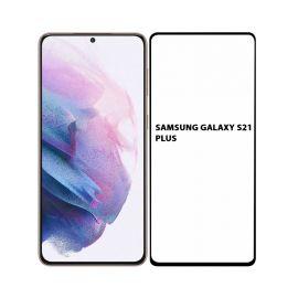 5D juodas apsauginis ekrano stikliukas Samsung Galaxy S21 Plus (Be išpjovimo)