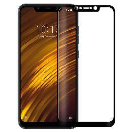5D juodas apsauginis ekrano stikliukas Xiaomi Pocophone F1