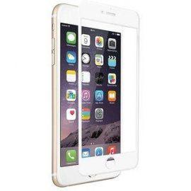 9D baltas apsauginis ekrano stikliukas Apple iPhone 6 / 6S