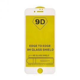 9D baltas apsauginis ekrano stikliukas Apple iPhone 7 Plus / 8 Plus