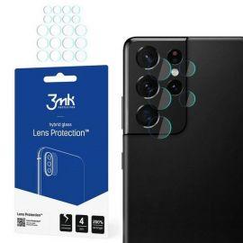 """Apsauginė plėvelė galiniai kameriai Samsung Galaxy S21 Ultra """"3MK Hybrid Glass"""""""