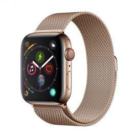 Auksinės spalvos apyrankė Devia Elegant Milanese Apple Watch 44mm