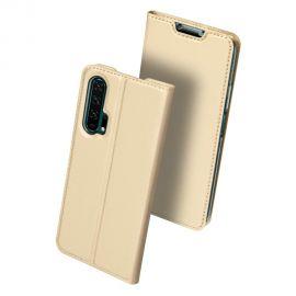 """Auksinės spalvos atverčiamas dėklas Huawei Honor 20 Pro """"Dux Ducis Skin Pro"""""""
