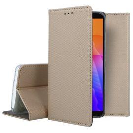 """Auksinės spalvos atverčiamas dėklas Huawei Y5P """"Smart Magnet"""""""