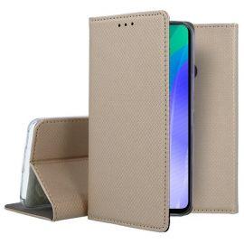 """Auksinės spalvos atverčiamas dėklas Huawei Y6P """"Smart Magnet"""""""
