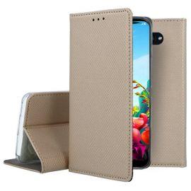 """Auksinės spalvos atverčiamas dėklas LG K40S """"Smart Magnet"""""""