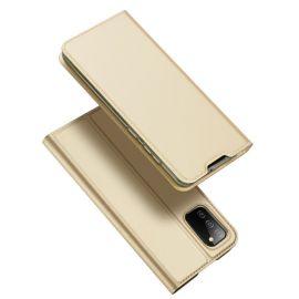 """Auksinės spalvos atverčiamas dėklas Samsung Galaxy A025 A02s """"Dux Ducis Skin Pro"""""""