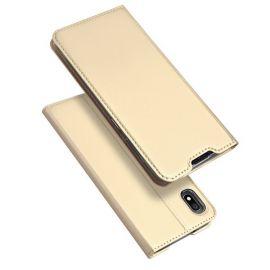 """Auksinės spalvos atverčiamas dėklas Samsung Galaxy A105 A10 """"Dux Ducis Skin Pro"""""""
