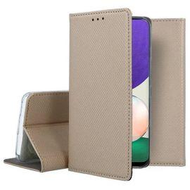 """Auksinės spalvos atverčiamas dėklas Samsung Galaxy A226 A22 5G """"Smart Magnet"""""""
