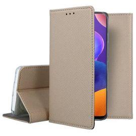 """Auksinės spalvos atverčiamas dėklas Samsung Galaxy A31 """"Smart Magnet"""""""