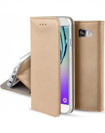 """Auksinės spalvos atverčiamas dėklas Samsung Galaxy A310 A3 2016 """"Smart Magnet"""""""