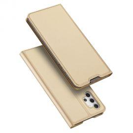 """Auksinės spalvos atverčiamas dėklas Samsung Galaxy A325 A32 4G """"Dux Ducis Skin Pro"""""""