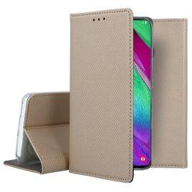 """Auksinės spalvos atverčiamas dėklas Samsung Galaxy A405 A40 """"Smart Magnet"""""""