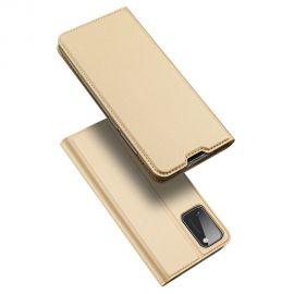 """Auksinės spalvos atverčiamas dėklas Samsung Galaxy A41 A415 """"Dux Ducis Skin Pro"""""""