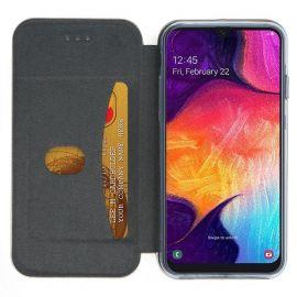 """Auksinės spalvos atverčiamas dėklas Samsung Galaxy A505 A50 / A507 A50s / A307 A30s """"Book Elegance"""""""