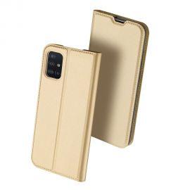 """Auksinės spalvos atverčiamas dėklas Samsung Galaxy A515 A51 """"Dux Ducis Skin Pro"""""""