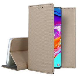"""Auksinės spalvos atverčiamas dėklas Samsung Galaxy A705 A70 """"Smart Magnet"""""""