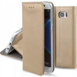 """Auksinės spalvos atverčiamas dėklas Samsung Galaxy G935 S7 Edge """"Smart Magnet"""""""