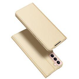 """Auksinės spalvos atverčiamas dėklas Samsung Galaxy G991 S21 5G """"Dux Ducis Skin Pro"""""""