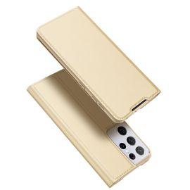 """Auksinės spalvos atverčiamas dėklas Samsung Galaxy G998 S21 Ultra 5G """"Dux Ducis Skin Pro"""""""