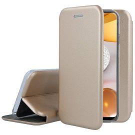 """Auksinės spalvos atverčiamas dėklas Samsung Galaxy M11 / A11 """"Book Elegance"""""""