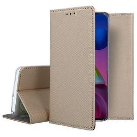 """Auksinės spalvos atverčiamas dėklas Samsung Galaxy M51 """"Smart Magnet"""""""