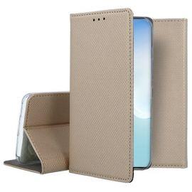 """Auksinės spalvos atverčiamas dėklas Samsung Galaxy Note 10 Lite / A81 """"Smart Magnet"""""""