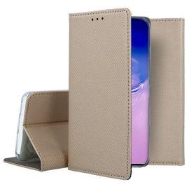 """Auksinės spalvos atverčiamas dėklas Samsung Galaxy S10 Lite / A91""""Smart Magnet"""""""