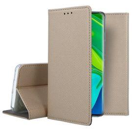 """Auksinės spalvos atverčiamas dėklas Xiaomi Mi Note 10 / Mi Note 10 Pro / Mi CC9 Pro """"Smart Magnet"""""""