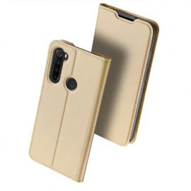 """Auksinės spalvos atverčiamas dėklas Xiaomi Redmi Note 8T """"Dux Ducis Skin Pro"""""""