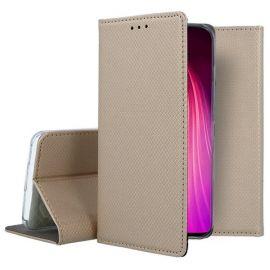 """Auksinės spalvos atverčiamas dėklas Xiaomi Redmi Note 8T """"Smart Magnet"""""""