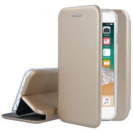 """Auksinės spalvos atverčiams dėklas Apple iPhone 5 / 5S / 5SE """"Book Elegance"""""""