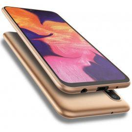 """Auksinės spalvos dėklas Samsung Galaxy A105 A10 """"X-level Guardian"""""""