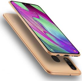 """Auksinės spalvos dėklas Samsung Galaxy A405 A40 """"X-level Guardian"""""""
