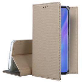 """Auksinis atverčiamas dėklas Huawei P30 Pro """"Smart Magnet"""""""