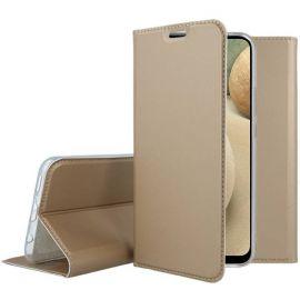"""Auksinis atverčiamas dėklas Samsung Galaxy A125 A12 / M127 M12 """"Dux Ducis Skin Pro"""""""