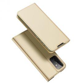 "Auksinis atverčiamas dėklas Samsung Galaxy A725 A72 / A726 A72 5G ""Dux Ducis Skin Pro"""