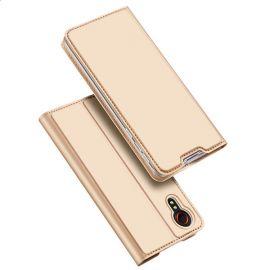 """Auksinis atverčiamas dėklas Samsung Galaxy G525 Xcover 5 """"Dux Ducis Skin Pro"""""""