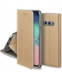 """Auksinis atverčiamas dėklas Samsung Galaxy G970 S10e """"Smart Venus"""""""