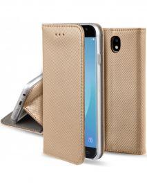 """Auksinis atverčiamas dėklas Samsung Galaxy J530 J5 2017 """"Smart Magnet"""""""