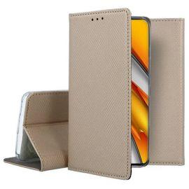 "Auksinis atverčiamas dėklas Xiaomi Mi 11i / Poco F3 / Poco F3 Pro / Redmi K40 / Redmi K40 Pro ""Smart Magnet"""