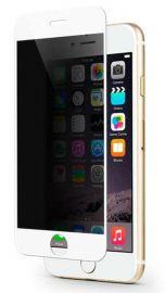 "Baltas apsauginis stiklas Apple iPhone 6 / 6S ""Full Privacy"""