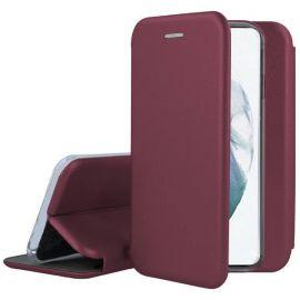"""Bordo atverčiamas dėklas Samsung Galaxy S21 """"Book Elegance"""""""