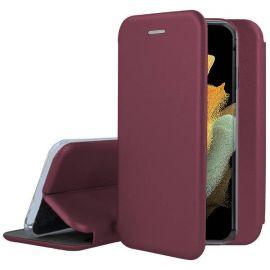 """Bordo atverčiamas dėklas Samsung Galaxy S21 Ultra """"Book Elegance"""""""